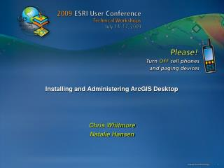 installing and administering arcgis desktop