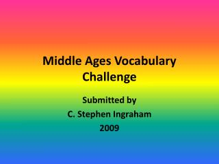 Middle Ages Vocabulary Challenge