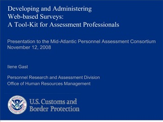developing and administering  web-based surveys:  a tool-kit for assessment professionals