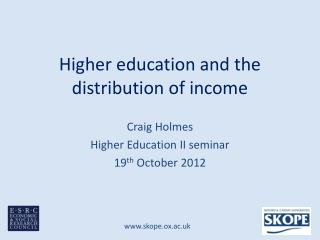 Higher education and the distribution of income