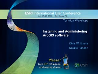 installing and administering arcgis software