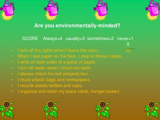 Are you environmentally-minded
