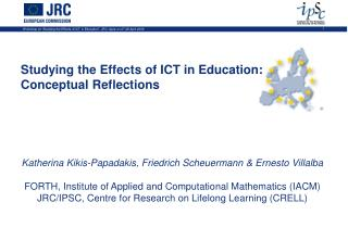 Conceptual Framework on studying ICT effects in European ...