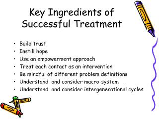 Key Ingredients of Successful Treatment