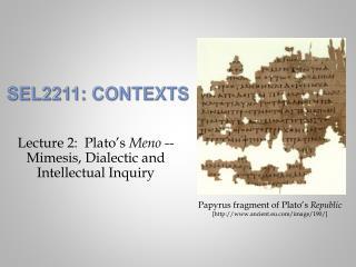 SEL2211: Contexts