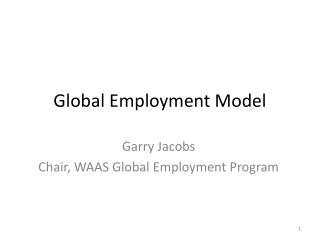 Global Employment Model