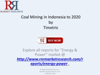 Indonesia Coal Mining Market 2020