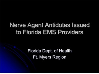 nerve agent antidotes issued to florida ems providers