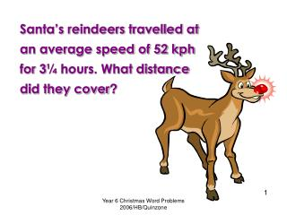Year 6 Christmas Word Problems 2006