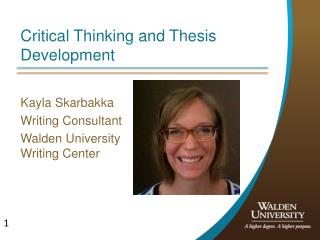Critical Thinking and Thesis Development