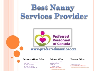 Edmonton Nannies Jobs