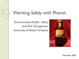 working safely with phenol