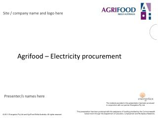 Agrifood   Electricity procurement