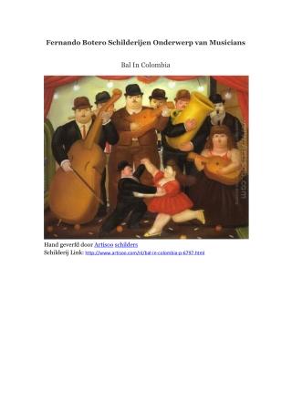Fernando Botero Schilderijen Onderwerp van Musicians -- Arti