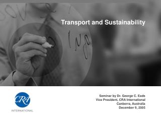 Transport and Sustainability