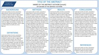 TITLE OF THE ABSTRACT NAMES OF THE ABSTRACT AUTHORS emails AFFLIATIONS OF THE ABSTRACT AUTHORS
