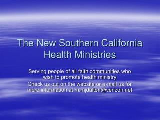 The New Southern California Health Ministries