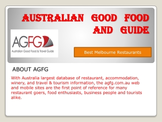 Choose Best Melbourne Restaurants Australia