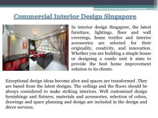 Condo Interior Design Singapore