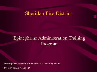 sheridan fire district