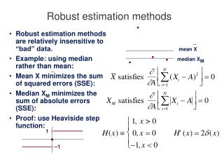 Robust estimation methods