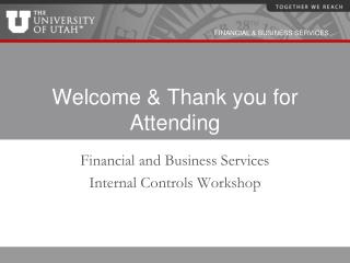 welcome  thank you for attending