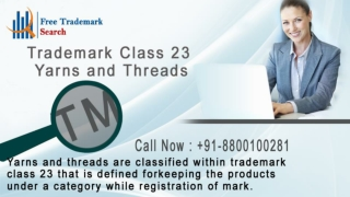 Trademark Class 23 | Yarns and Threads