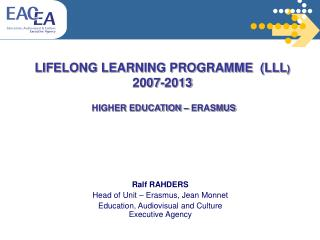LIFELONG LEARNING PROGRAMME LLL 2007-2013