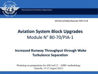Aviation System Block Upgrades Module N  B0-70