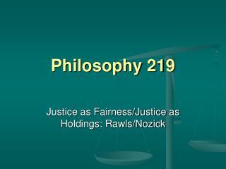 Philosophy 219