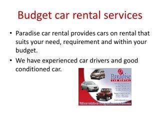 paradise car rentals