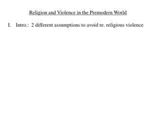 is it a religion of violence
