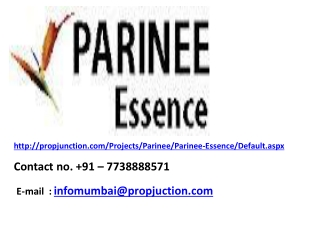 Parinee Essence, Kandivali Mumbai @ 7738888571