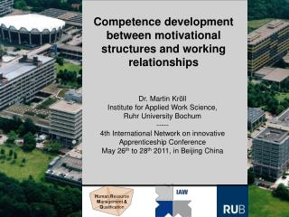 Competence development between motivational structures and working relationships