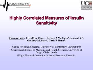 Highly Correlated Measures of Insulin Sensitivity