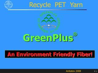 Recycle  PET  Yarn