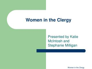 Women in the Clergy