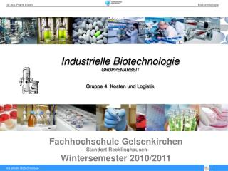 Fachhochschule Gelsenkirchen - Standort Recklinghausen- Wintersemester 2010
