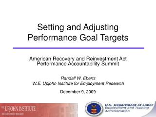 setting and adjusting performance goal targets