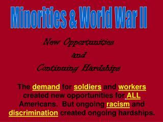 Minorities  World War II