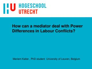 How can a mediator deal with Power Differences in Labour Conflicts