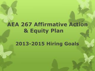 AEA 267 Affirmative Action  Equity Plan