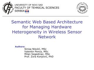 Semantic Web Based Architecture for Managing Hardware Heterogeneity in Wireless Sensor Network