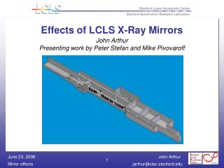 Effects of LCLS X-Ray Mirrors