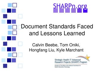 Document Standards Faced and Lessons Learned