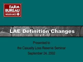 lae definition changes
