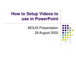 How to Setup Videos to use in PowerPoint