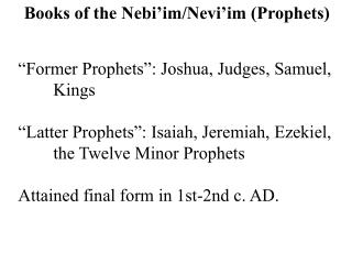 Books of the Nebi im