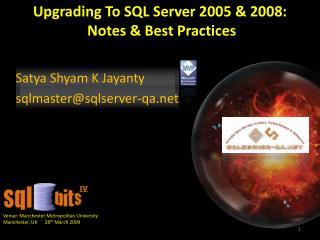 Satya Shyam K Jayanty  sqlmastersqlserver-qa
