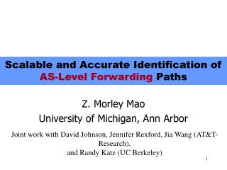 Scalable and Accurate Identification of AS-Level Forwarding Paths